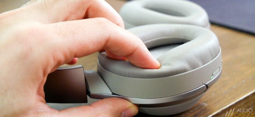 Les coussinets du casque audio ne sont pas amovibles