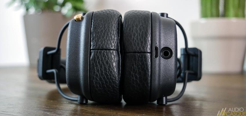 Connectique du Marshall Major 3 Bluetooth