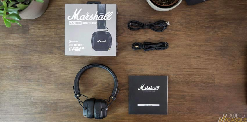 Unboxing du Marshall Major III Bluetooth