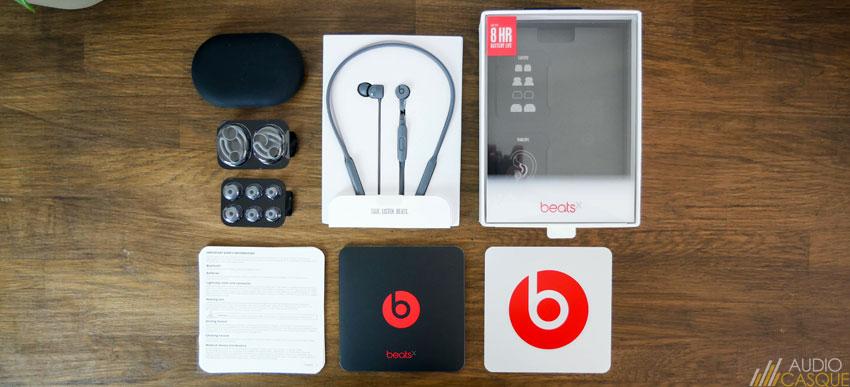 Unboxing des écouteurs BeatsX