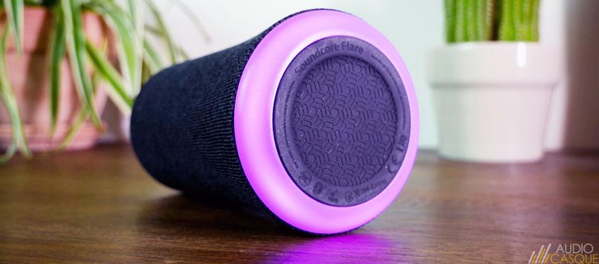 Enceinte bluetooth avec lumière LED