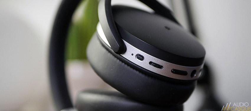 Les commandes sont complètes et permettent de facilement piloter le casque sans fil