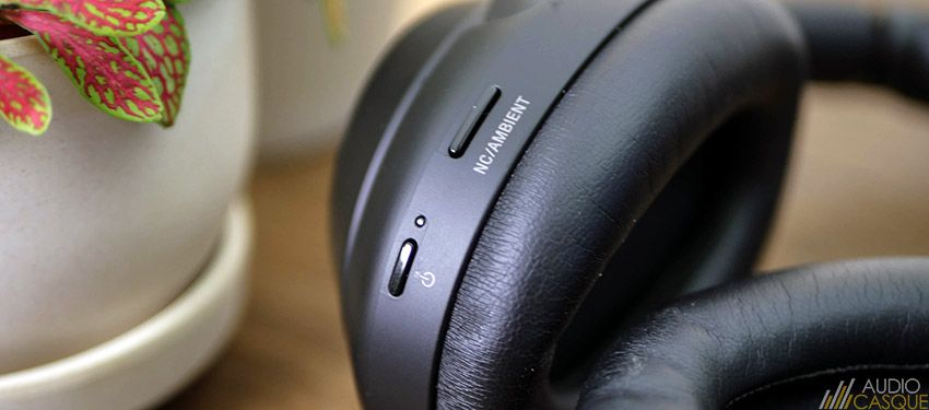 Zoom sur les boutons du WH-1000XM3