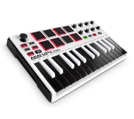 AKAI MPK MINI version Blanche - Un clavier MIDI efficace et pas cher